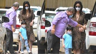 Kareena Kapoor & Taimur Ali Khan Look CUTE Together Wearing Mask