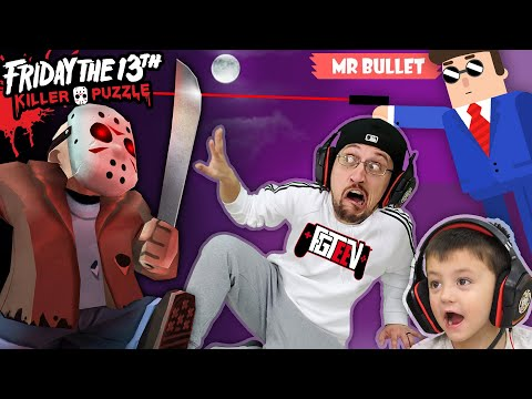 FRIDAY the 13th Traps FGTEEV! (Mr Bullet & Silly Walks 3 Games Mash Up + Skit)
