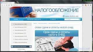 Сроки сдачи отчетности и уплаты налога ЕНВД