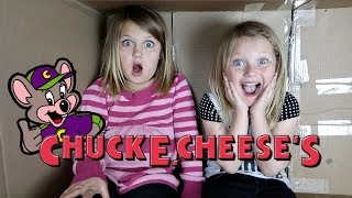 We Pretend To MAIL OURSELVES TO CHUCK E CHEESE! (skit)