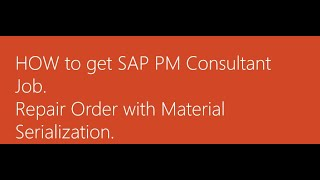 SAP PM Tutorials - Good Issue - Serial No - LEARN2WIN