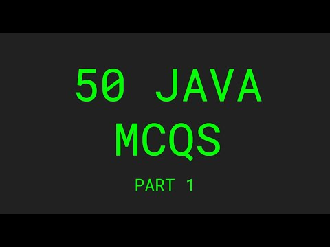 Top 50 solved java MCQs - Part 1
