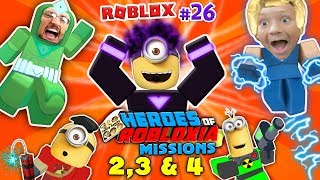 DABBING MINION & ROBLOX Heroes of Robloxia MISSIONS 2, 3 & 4! FGTEEV #28: 2-Vids-in-1 (DARK MATTER)