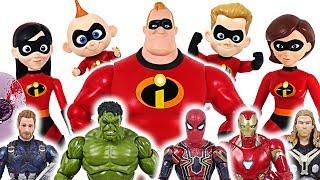 Enormous dinosaur attack Marvel Avengers Hulk! Interactive Talking Incredibles 2! Go!- DuDuPopTOY