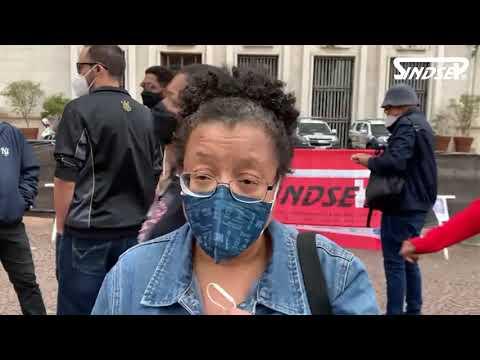 Silvana fala sobre a importância da greve e convida os colegas para somarem na luta