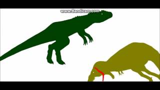 Dinosaur Battle Royale: DragonWalkerPlay's fights - hmong video
