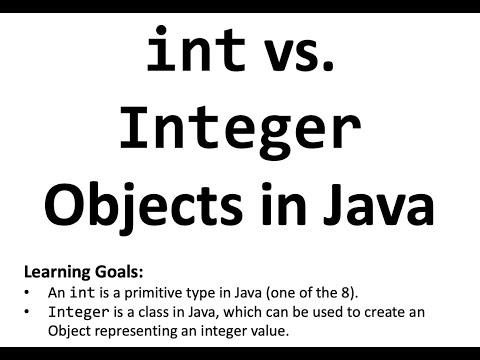 Integer objects in Java vs. int