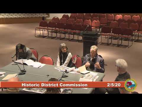 Historic District Commission 2.5.2020
