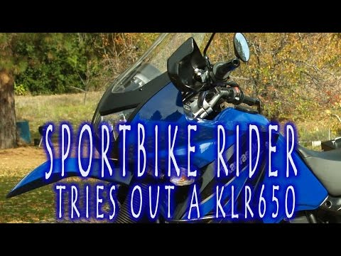 Sport Bike Rider Tries Out A KLR650