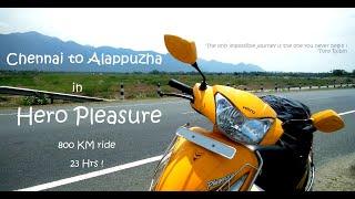 Chennai to Alappuzha Solo Ride in Hero Pleasure   Lockdown   800 KM   Experience in Malayalam  