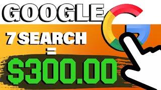 Make $1200! JUST Searching On Google | 1000% WORKING (Make Money Online 2021)