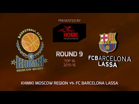 Highlights: Top 16, Round 9, Khimki Moscow Region 75-61 FC Barcelona Lassa