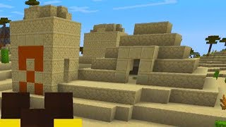 went into a desert pyramid on minecraft and it was a big mistake