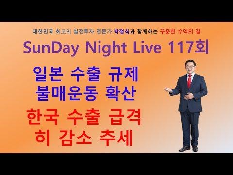 주식투자 주간시황 SNL 117회 일본 수출규제로 인해  불무 운동 극심화, 글로벌 경기 침체 가능성