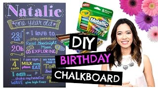 DIY 1st BIRTHDAY Chalkboard: Easy & Cheap!