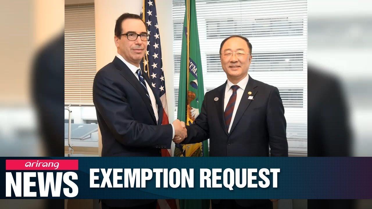 S. Korean financing minister asks U.S. treasury secretary to exempt Korea from automobile import tariffs thumbnail