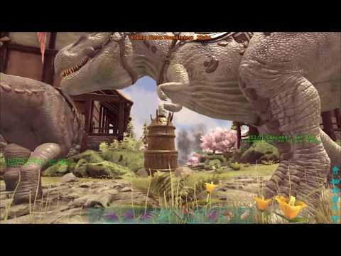Ark: BOSS Fight Easy - Center Map - Allos, Rexes, Chalicos, & Daeodon