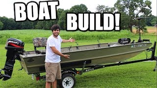 EPIC Jon Boat BUILD! We took it out on the WATER!