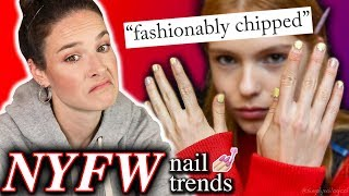 Fashion Week 2019 Nail Trends: Review & recreation (click for style icon)