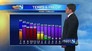 Videocast: Winter storm following predicted track