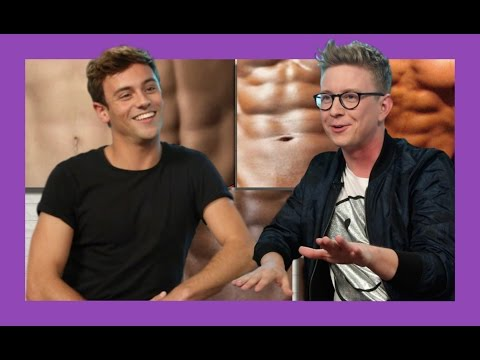 Guessing Celebrity Abs with Tom Daley | The Tyler Oakley Show