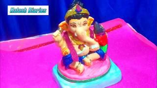 How To Make Clay Bal Ganesha With Mushak At Home Vinayak Chathurti | Mitti Ki Murti/idol/ecofriendly