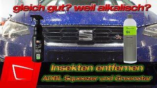 Insekten entfernen - Koch Chemie Greenstar gegen ADBL Beetle Juice Squeezer Alkalität ist alles?