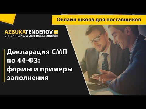 Декларация СМП по 44-ФЗ: формы и примеры заполнения