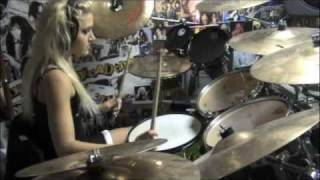 Chick drummer playing Children of Bodom-We're Not Gonna Fall