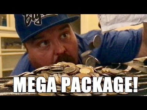 MEGA PACKAGE!!! Dumping 1000 Coins Out Onto The Table!