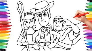 Toy Story 4 Coloring Pages Drawing And Coloring For