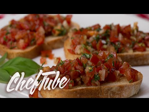 How to Make Italian Bruschetta – Recipe in description