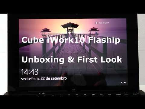 Cube iWork10 Flaship/Ultimate Dual Boot Tabet Unboxing & First Look - from Banggod
