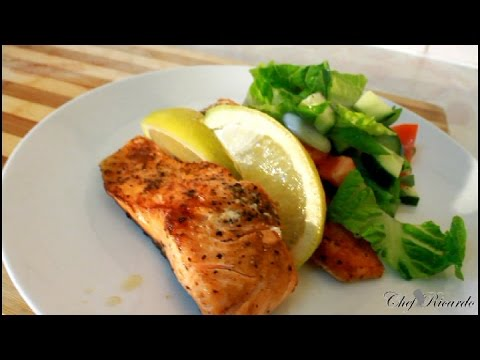 Pan Fried Salmon Salad For Summer [Caribbean Summer Recipe]   Recipes By Chef Ricardo