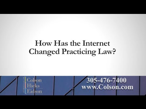 How Has the Internet Changed Practicing Law?