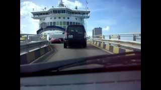 preview picture of video 'The entrance to the ferry at Dunkirk   Wjazd na prom w Dunkierce'