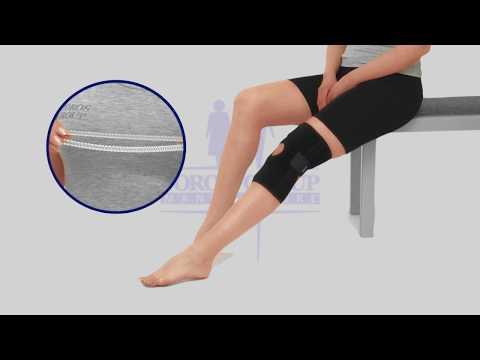 Бандаж для коленного сустава с двумя ребрами жесткости разъемный неопреновый тип 517 Торос Груп