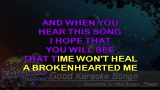 Broken Hearted Me - Anne Murray ( Karaoke Lyrics )