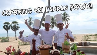 COOKING SRI LANKAN FOOD WITH SRI LANKANS IN SRI LANKA! | Vlog #108