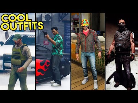 GTA Online - AWESOME LOOKING OUTFITS! (Tommy Vercetti, The Sheriff, The McFly & More)
