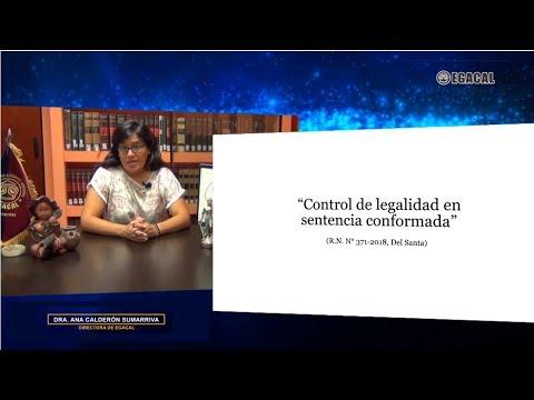 Control de legalidad en sentencia conformada RN 371-2018, Del Santa- Luces Cámara Derecho 116