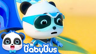 Super Panda Trapped in Desert | Super Panda Rescue Team | BabyBus Cartoon