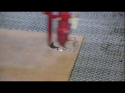 Grawerowanie skóry przy użyciu lasera Co2 seria C | Leather engraving using Co2 laser C series - zdjęcie