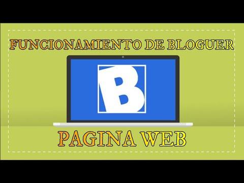 Pagina web de Bloguer