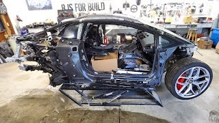 Tearing Down my Cheap Burnt Lamborghini Huracan