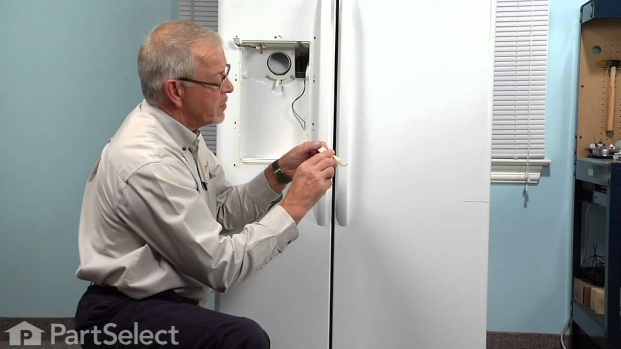 Replacing your General Electric Refrigerator Dispenser Door Recess Crank