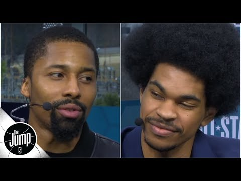 Spencer Dinwiddie calls Jarrett Allen 'future top-5 center with an amazing Afro' | The Jump