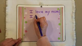 Mother's Day Sentence Writing