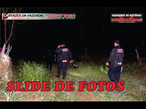 Slide de fotos da investigação Caipora