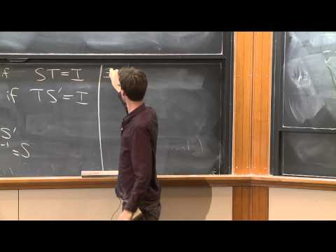 Lecture 6: Linear Algebra: Vector Spaces and Operators (cont